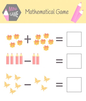 Cuaderno de matemáticas para la educación preescolar.