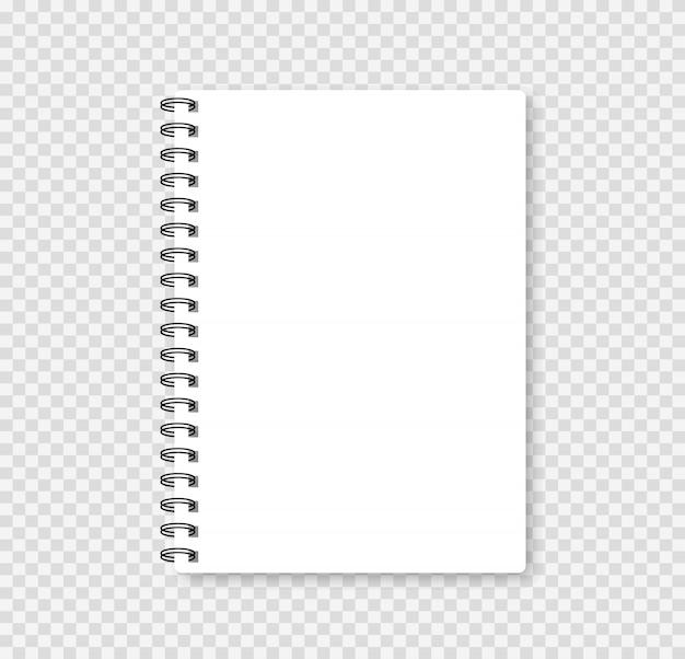 Cuaderno realista simulacro para su imagen. ilustración vectorial