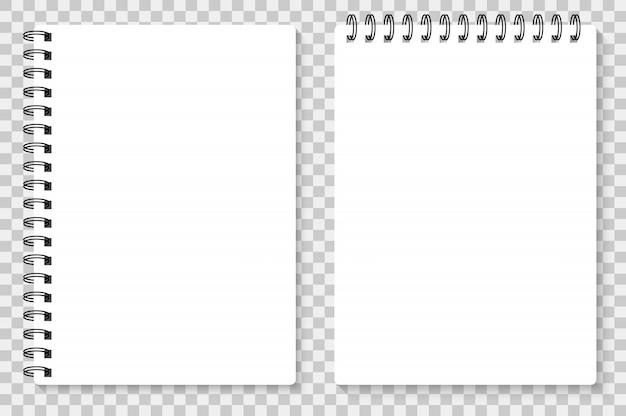 Cuaderno realista simulacro para su imagen.