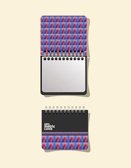 Cuadernos de tapa geométrica
