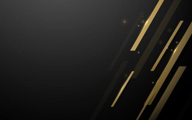 Cuadrados abstractos geométricos de oro de lujo vector de fondo.