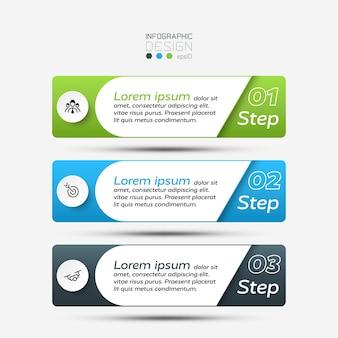 Los cuadrados de diseño se utilizan para presentar ideas y procesos en la infografía de educación empresarial