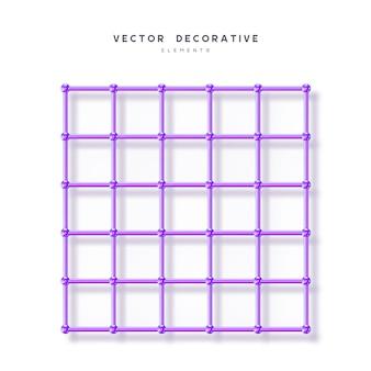Cuadrícula de matriz de átomo d
