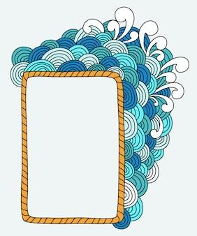 Cuadro abstracto dibujado a mano con espacio en blanco