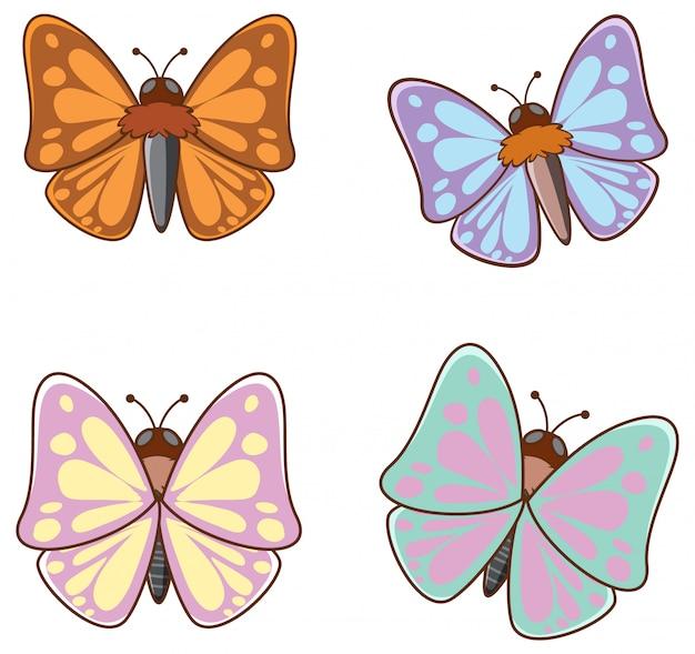Cuadro aislado de mariposas