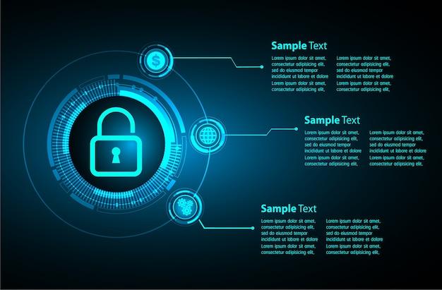 Cuadro de texto internet de las cosas ciber tecnología, seguridad