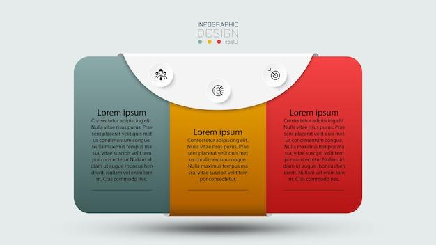 El cuadro de texto rectangular proporciona información y comunicación, que incluye publicidad, negocios o folletos. infografía.