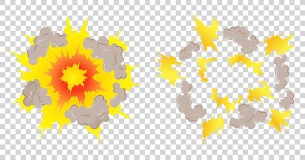 Cuadros de animación de explosión de dibujos animados para el juego