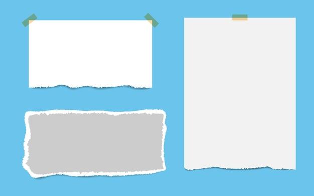 Cuadros en blanco de la libreta y cinta.