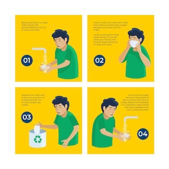 Cuándo y cómo usar equipos de protección sanitaria instagram posts