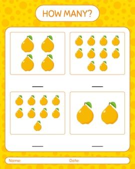 Cuantos juego de contar con quince hojas de trabajo para niños en edad preescolar, hoja de actividades para niños, hoja de trabajo imprimible