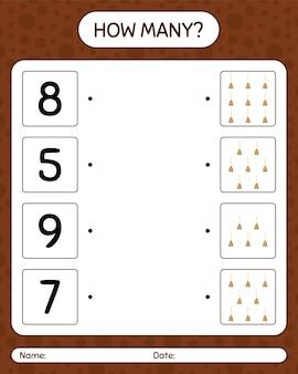 Cuantos juegos de contar con escoba. hoja de trabajo para niños en edad preescolar, hoja de actividades para niños