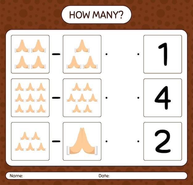 Cuántos juegos de contar con la oración. hoja de trabajo para niños en edad preescolar