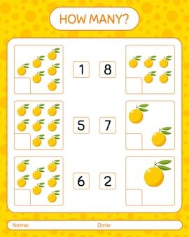 Cuantos juegos de contar con yuzu hoja de trabajo para niños en edad preescolar, hoja de actividades para niños, hoja de trabajo imprimible