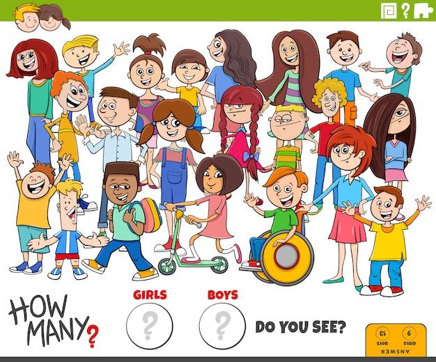 ¿cuántos niños y niñas tarea educativa
