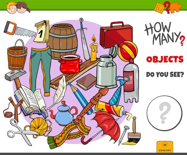 Cuantos objetos tarea educativa para niños