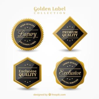 Cuatro bonitas pegatinas de calidad suprema