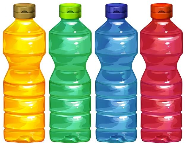 Cuatro botellas de agua