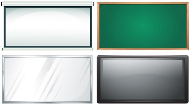 Cuatro diseño del tablero