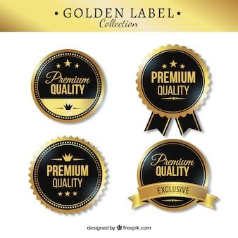 Cuatro elegantes pegatinas premium