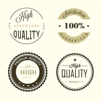 Cuatro insignias de calidad