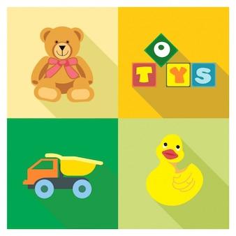 Cuatro juguetes