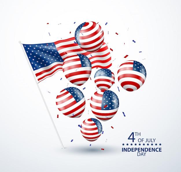 Cuatro de julio celebración del día de la independencia de estados unidos