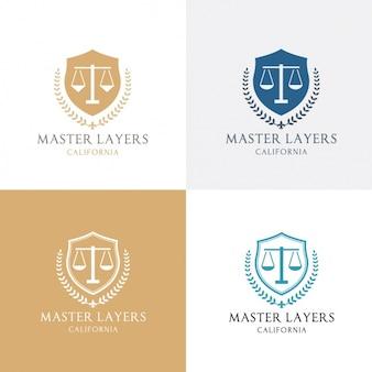 Cuatro logotipos acerca de la justicia