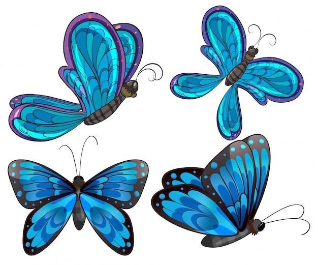 Cuatro mariposas