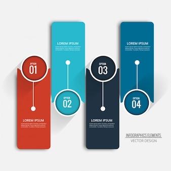 Cuatro opciones para infografías
