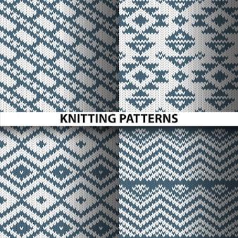 Cuatro patrones tejidos