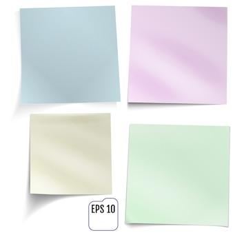 Cuatro pegatinas de colores