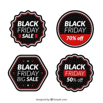 Cuatro pegatinas de viernes negro
