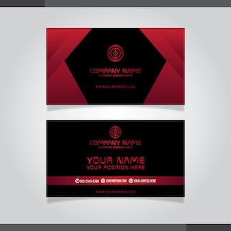 Cuatro tarjetas de visita creativas abstractas premium (plantilla establecida)