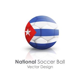 Cuba soccerball symbol nation