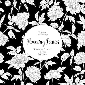 Cubierta botánica en blanco y negro.