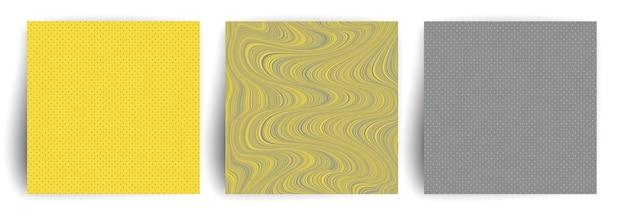 Cubierta de colores amarillo y gris.
