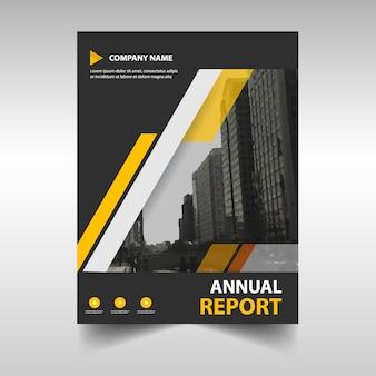 Cubierta creativa amarilla de reporte anual