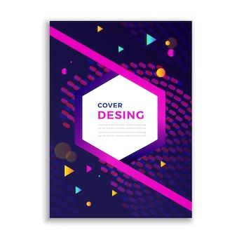 Cubierta con diseña abstracta