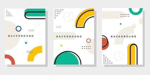 Cubierta de diseño abstracto de memphis