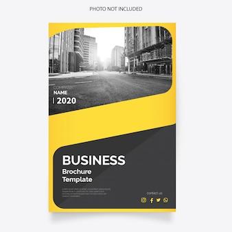 Cubierta del folleto de negocios modernos