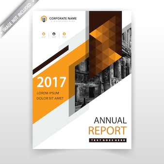 Cubierta de folleto vertical geométrica naranja