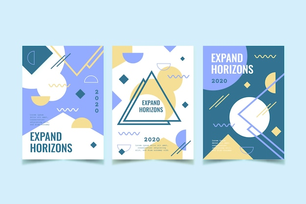 Cubierta geométrica set diseño abstracto