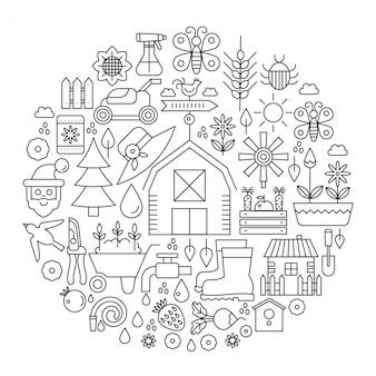 Cubierta de jardineria