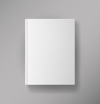 Cubierta de libro en blanco de vector aislado en blanco