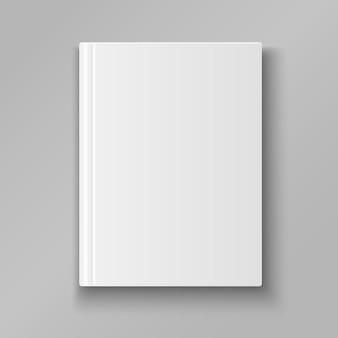 Cubierta de libro en blanco