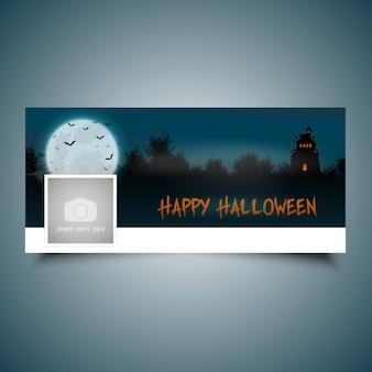 Cubierta de línea de tiempo del paisaje de halloween