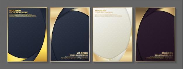 Cubierta mínima en oro. diseño abstracto geométrico del vector.