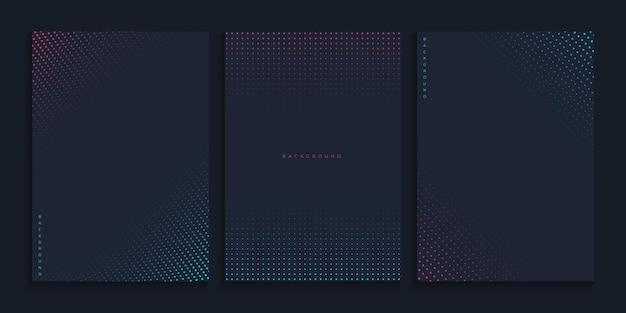 Cubierta minimalista abstracta con semitono neón