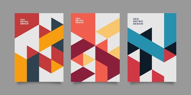 Cubierta de negocios geométrica abstracta